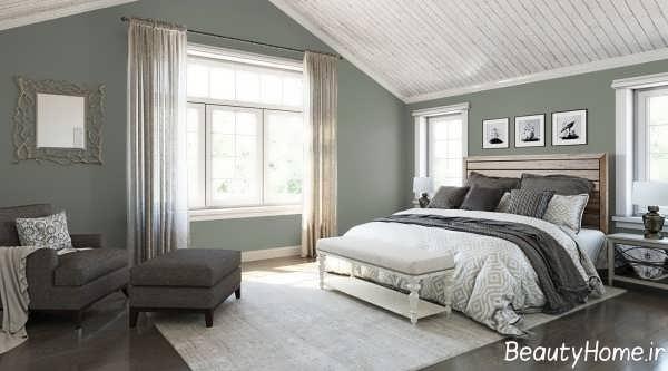 دیزاین اتاق خواب به کمک رنگ های خنثی