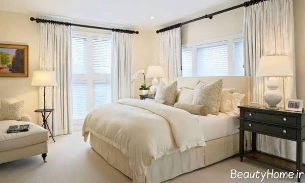نورپردازی اتاق خواب با رنگ خنثی