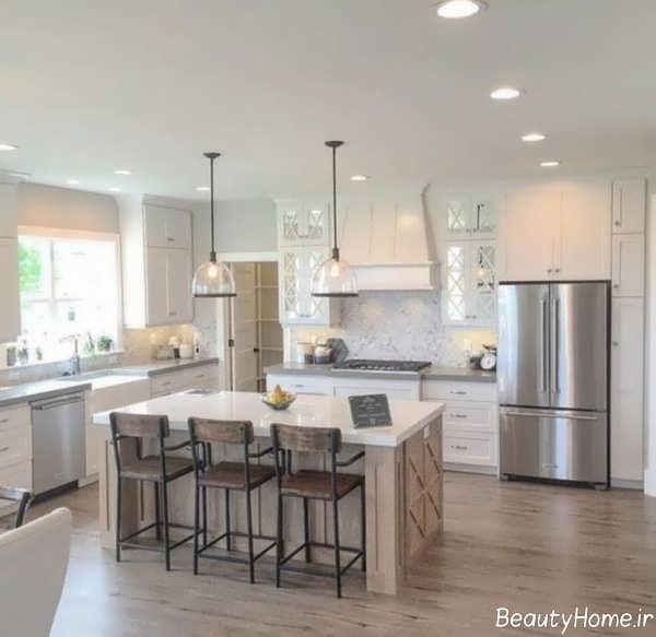 طراحی آشپزخانه به کمک رنگ های خنثی