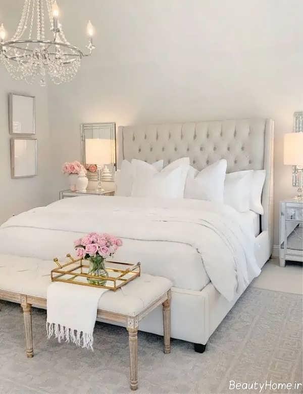 اتاق خواب با رنگ خنثی