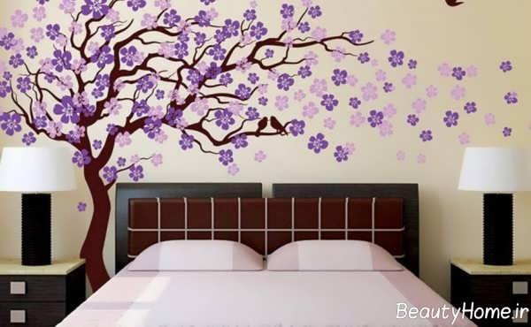 تزیین دیوار اتاق خواب کم هزینه