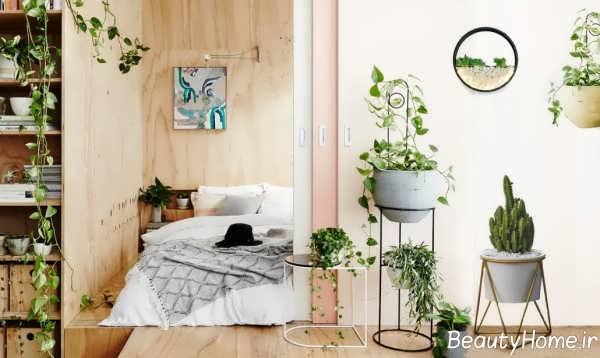 دکوراسیون اتاق خواب کم هزینه با گیاهان