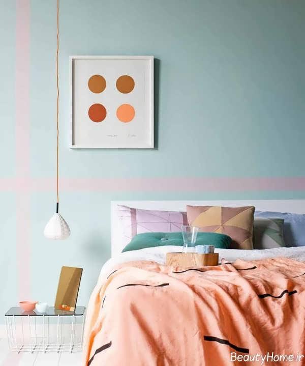 دیزاین داخلی اتاق خواب با رنگ های زیبا و پاستلی