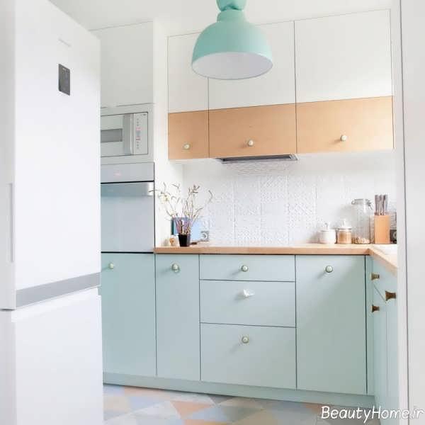 طراحی داخلی با رنگ های پاستیلی و متفاوت