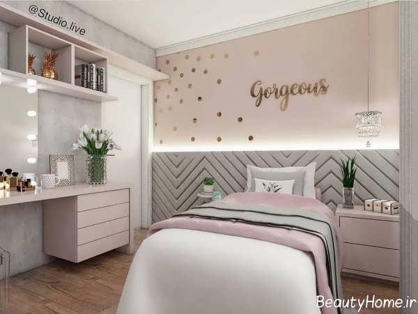 طراحی داخلی اتاق خواب با رنگ های زیبا و پاستلی