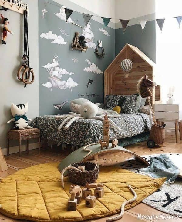 تزیین اتاق کودک طوسی