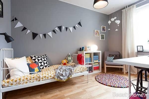 دیزاین اتاق کودک طوسی