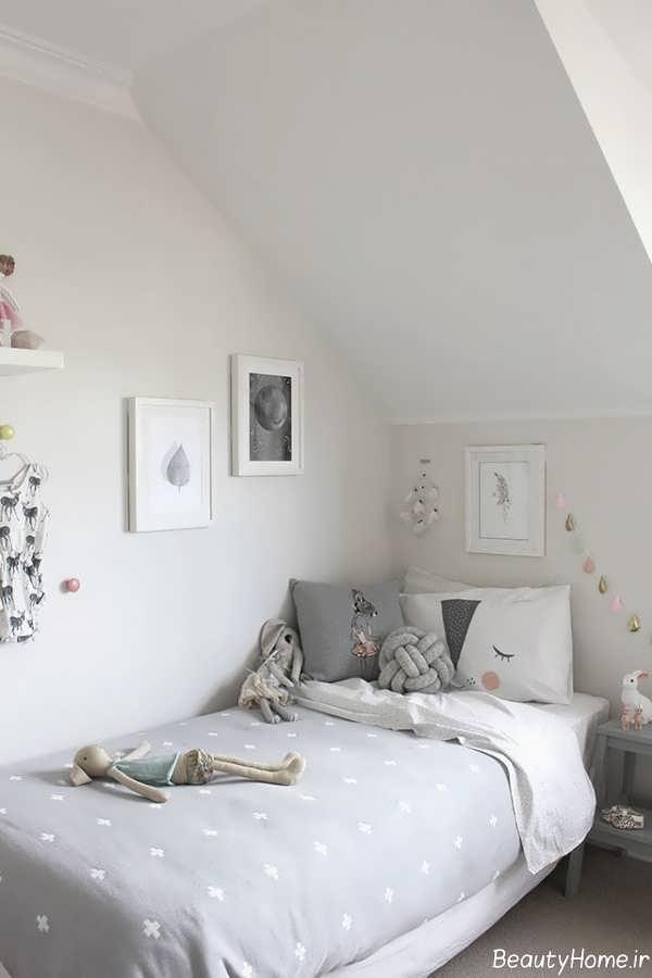 دیزاین اتاق کودک با رنگ طوسی