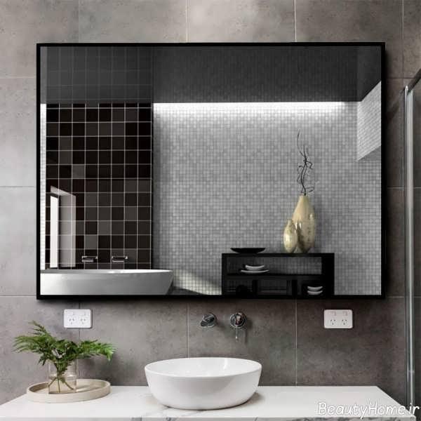 مدل آینه سرویس بهداشتی شیک و زیبا