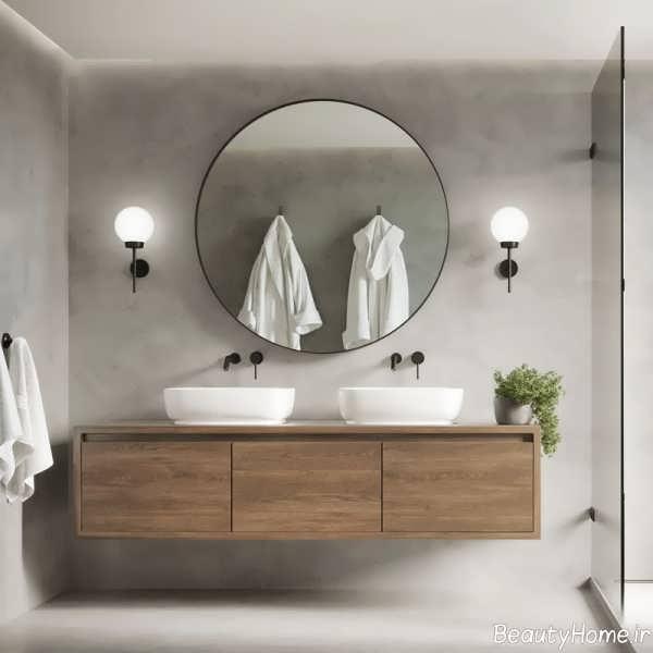 آینه گرد برای دکوراسیون سرویس بهداشتی