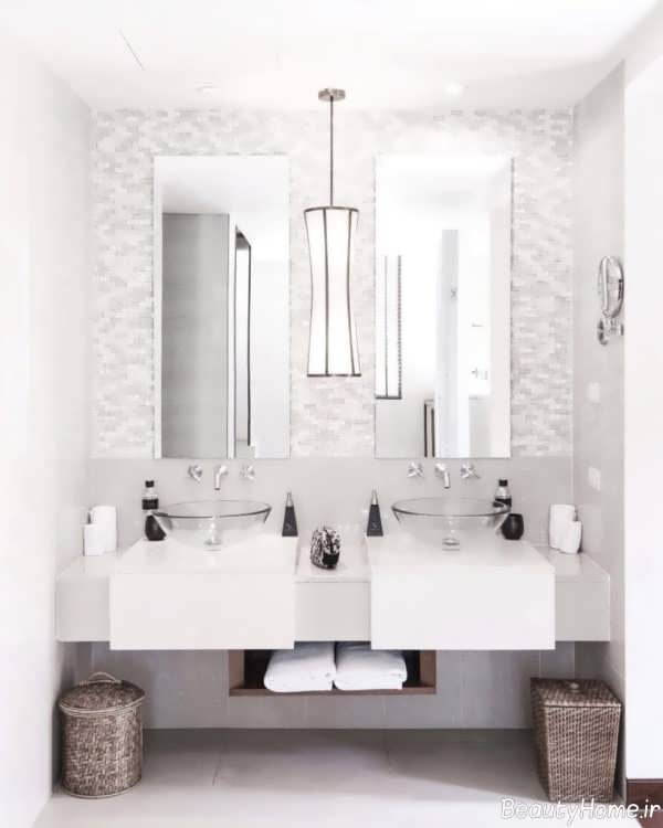آینه ساده برای سرویس بهداشتی
