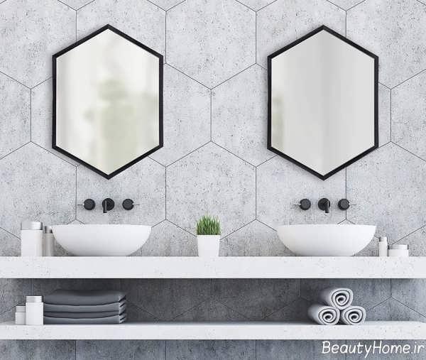 آینه چند ضلعی برای فضای سرویس بهداشتی