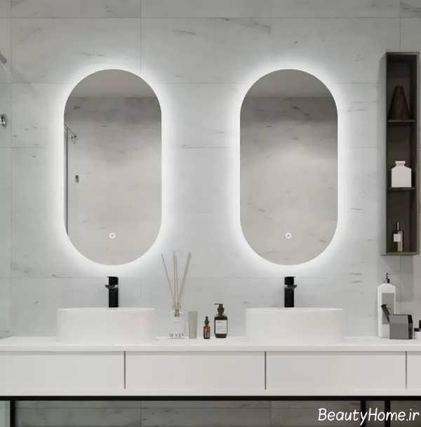 آینه شیک برای سرویس بهداشتی