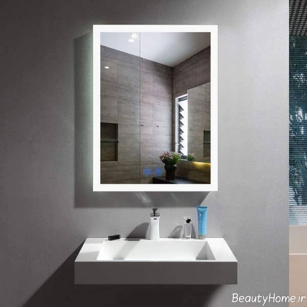 مدل آینه زیبا برای سرویس بهداشتی