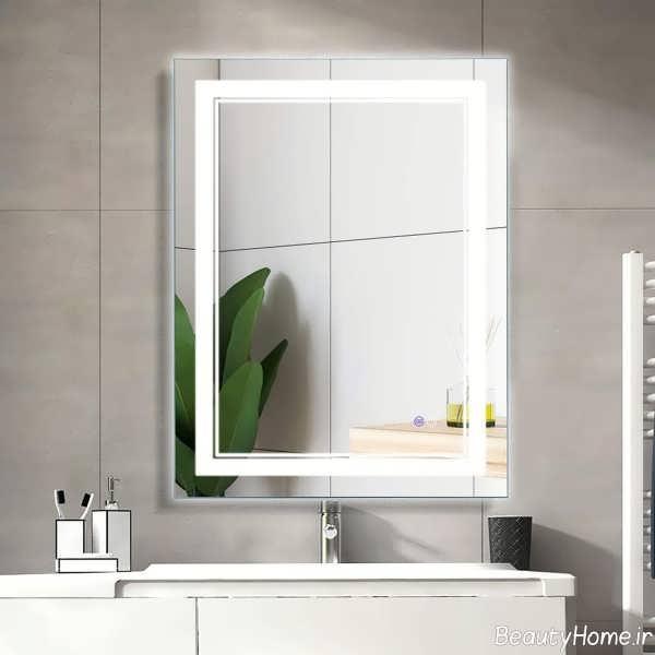 مدل آینه شیک برای سرویس بهداشتی
