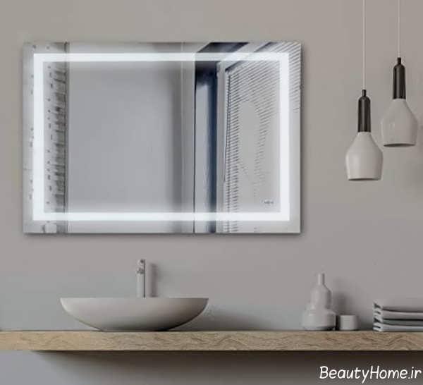 آینه مستطیل برای سرویس بهداشتی