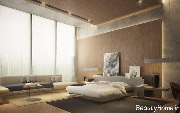 طراحی دکوراسیون داخلی اتاق خواب بزرگ
