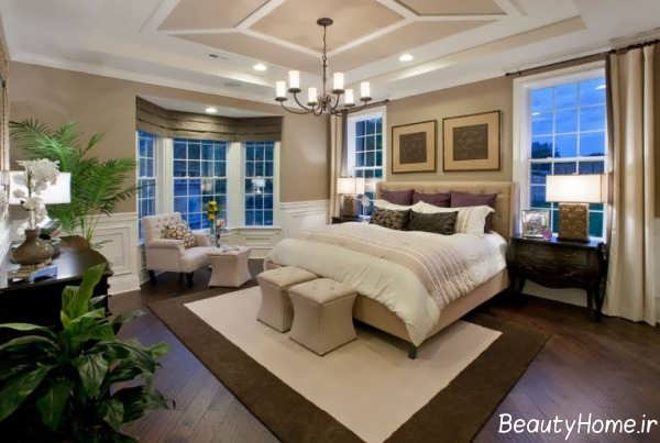 دکوراسیون داخلی اتاق خواب بزرگ و زیبا