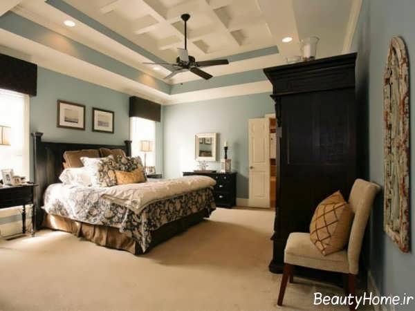 دکوراسیون اتاق خواب بزرگ شیک و زیبا