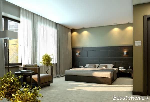 نورپردازی اتاق خواب بزرگ