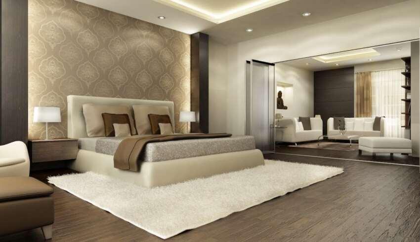 دکوراسیون اتاق خواب بزرگ با چند طراحی کاربردی و زیبا