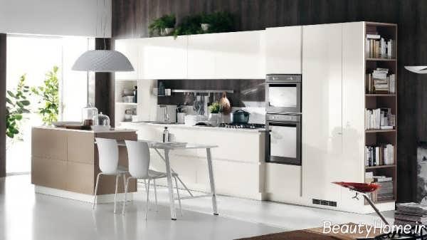 دکوراسیون داخلی آشپزخانه خطی