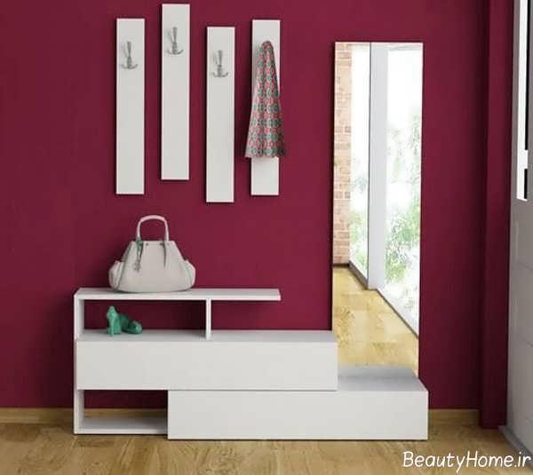 مدل های جاکفشی آینه دار و سفید