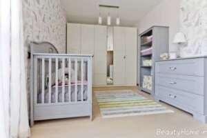 طراحی دکوراسیون اتاق نوزاد کوچک