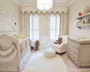 دکوراسیون اتاق کوچک برای نوزاد