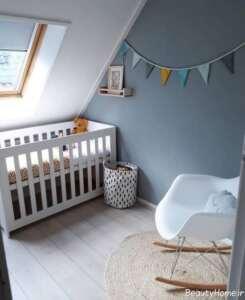 دیزاین داخلی اتاق نوزاد کوچک