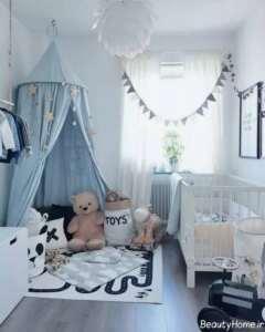 تزیین اتاق نوزاد کوچک