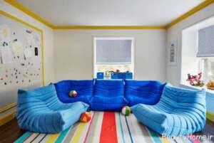 مدل مبل توگو آبی