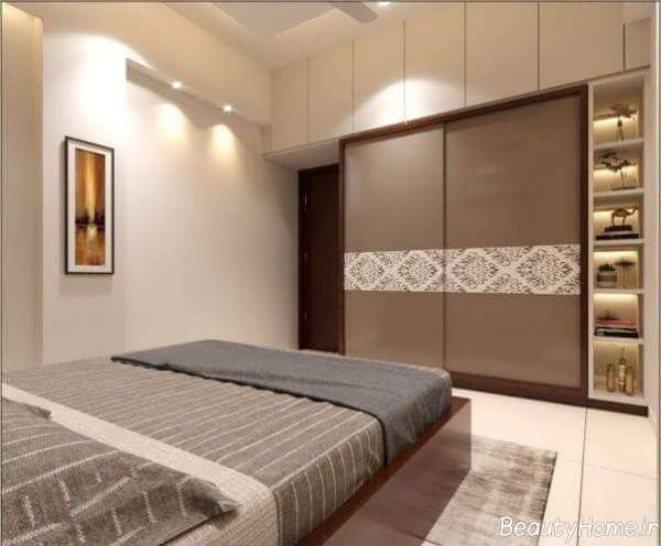 کمد دیواری ریلی برای اتاق خواب