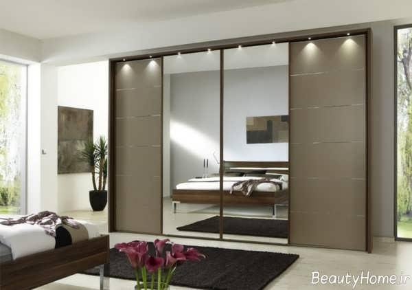 مدل کمد دیواری آینه دار
