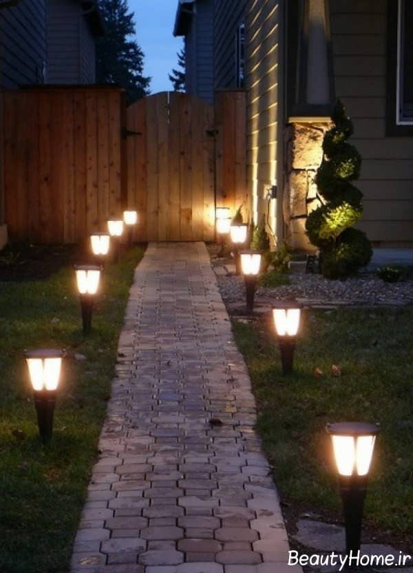 نورپردازی ورودی حیاط