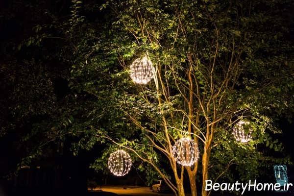 نورپردازی درختان به کمک روش های جالب