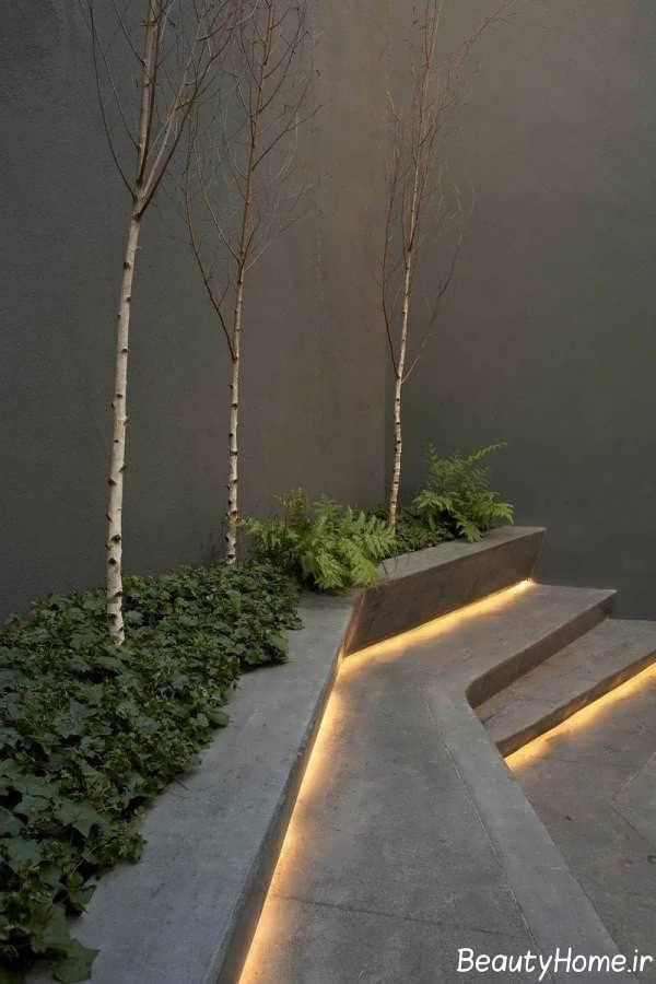 نورپردازی مخفی حیاط