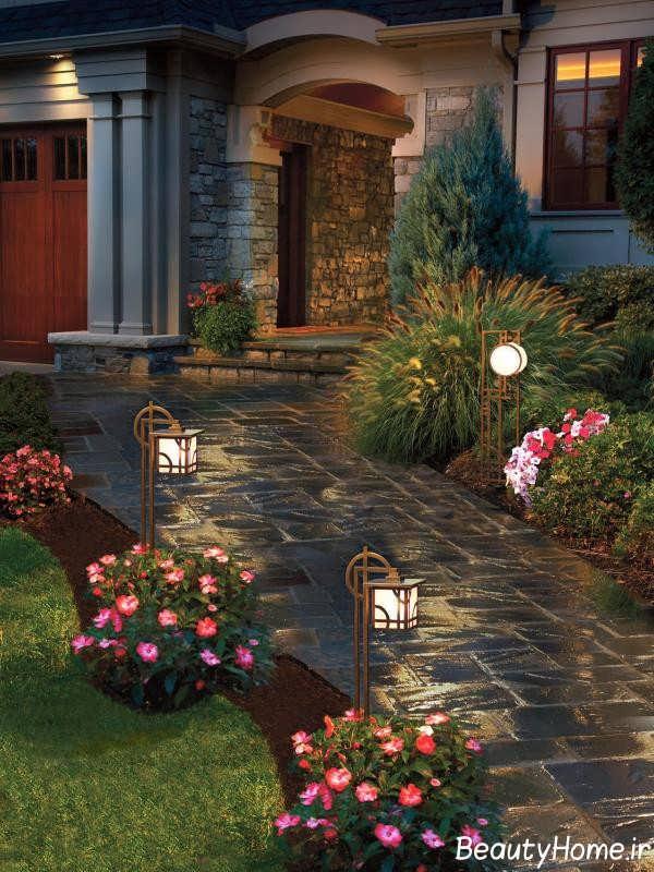 طراحی روشنایی برای حیاط منزل