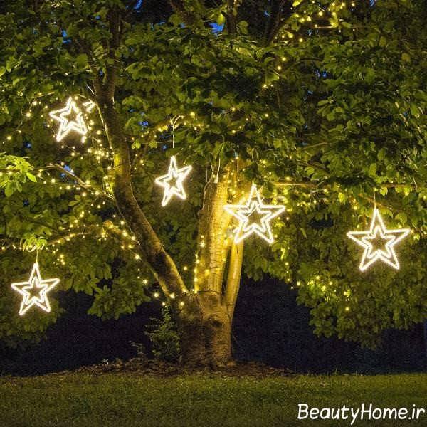 طراحی نورپردازی برای حیاط