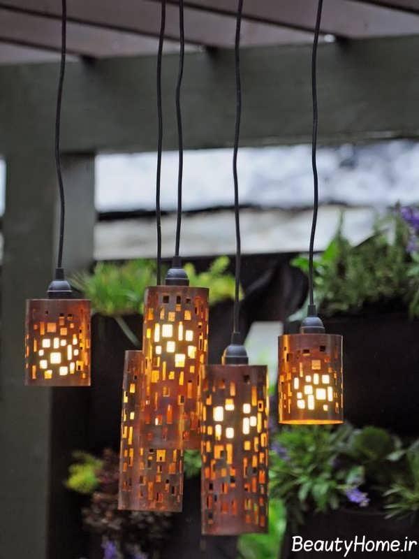 طراحی نورپردازی با لامپ آویز