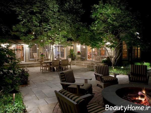 طراحی نورپردازی حیاط با روش هایی جالب
