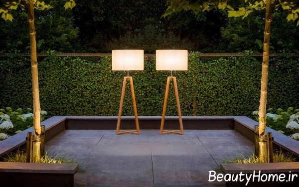 روشنایی حیاط با آباژور