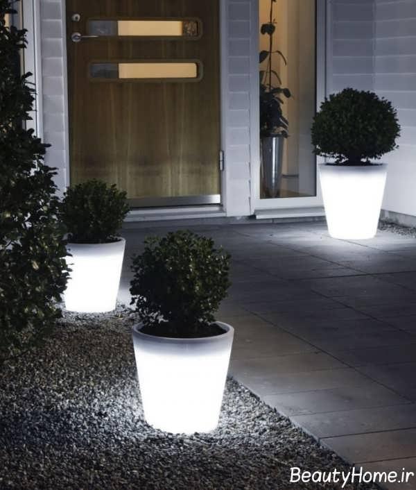 نورپردازی به کمک گلدان نوری