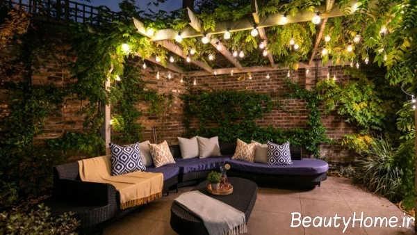 دیزاین نورپردازی برای حیاط خانه