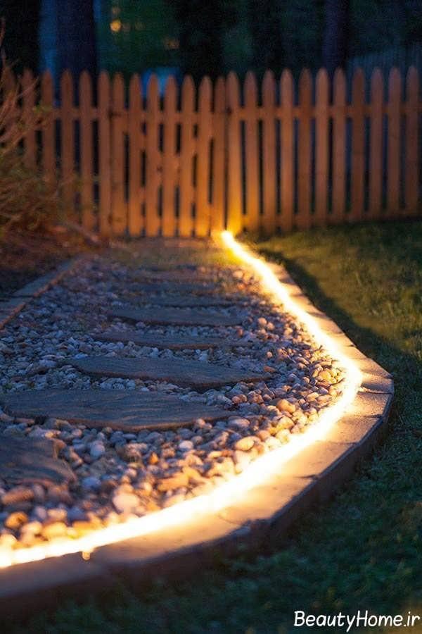 نورپردازی ورودی به صورت خطی