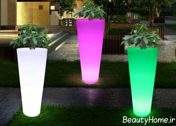 دیزاین نورپردازی حیاط