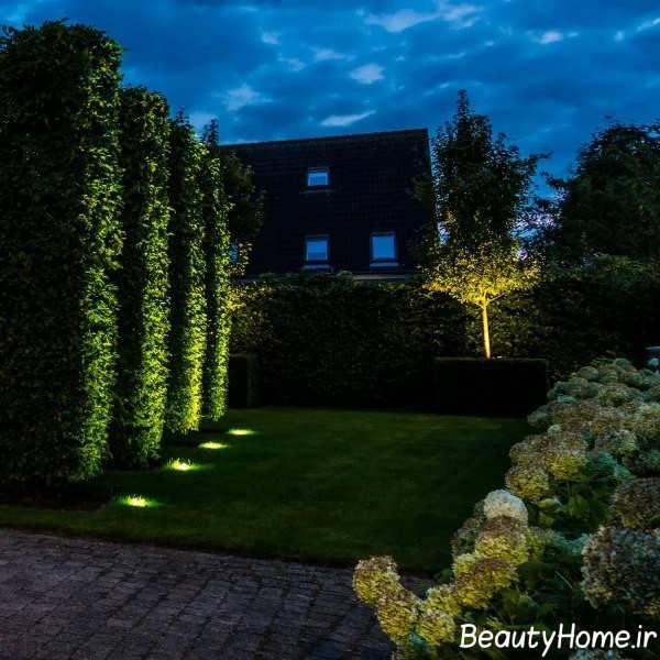 نورپردازی باغچه حیاط