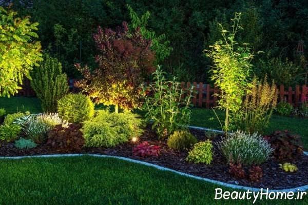 نورپردازی باغچه به صورت مخفی