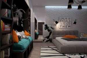 دیوار آجری زیبا در طراحی داخلی منزل
