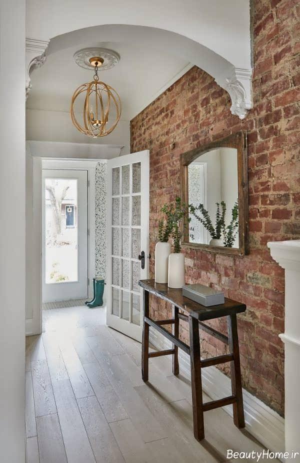 طراحی داخلی با دیوار آجری